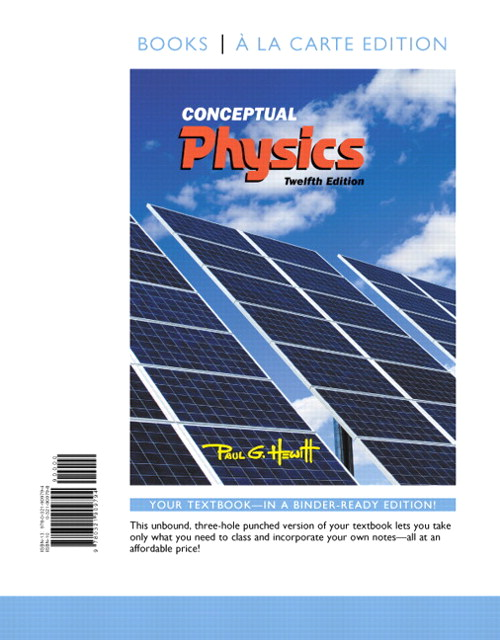 Conceptual Physics, Books a la Carte Edition, 12th Edition