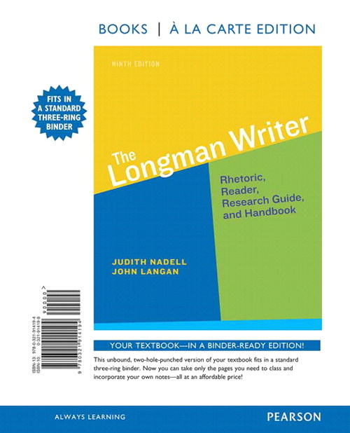 Longman Writer, The,  Books a la Carte Edition, 9th Edition