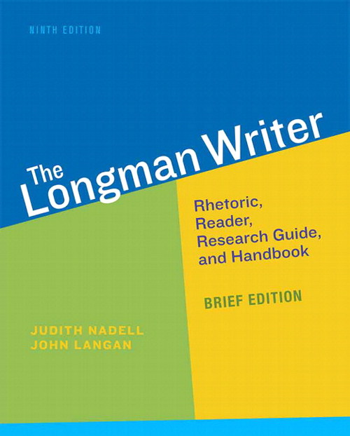 Longman Writer, The, Brief Edition, 9th Edition
