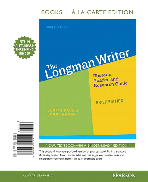 The Longman Writer, Brief Edition,  Books a la Carte Edition, 9th Edition