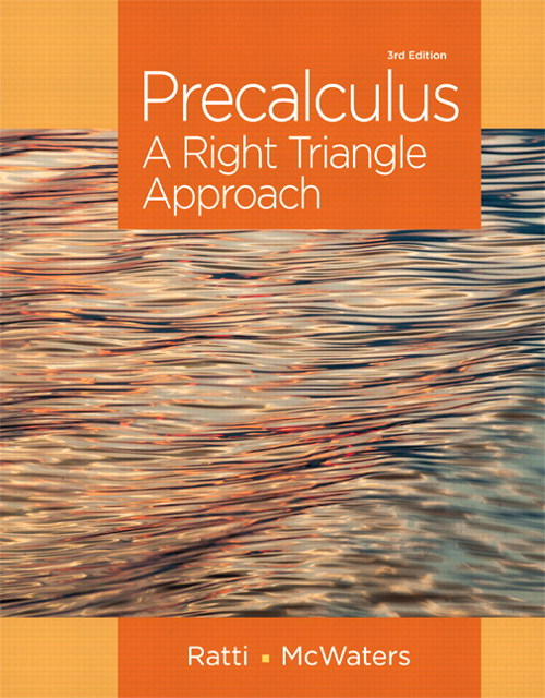 Precalculus: A Right Triangle Approach Plus NEW MyMathLab with Pearson eText -- Access Card Package, 3rd Edition
