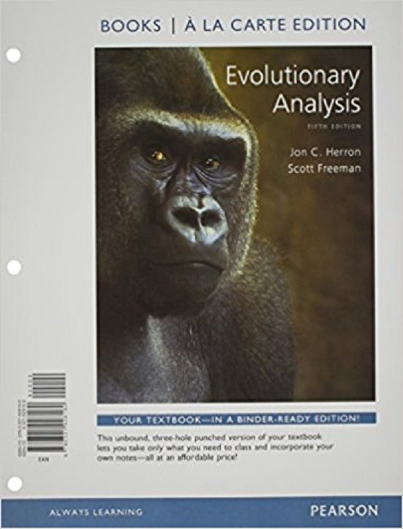 Evolutionary Analysis, Books a la Carte Edition, 5th Edition