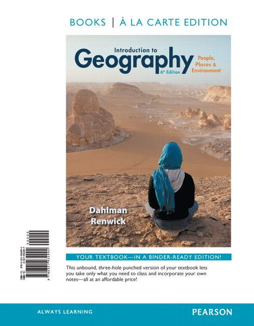 Introduction to Geography: People, Places & Environment, Books a la Carte Edition, 6th Edition