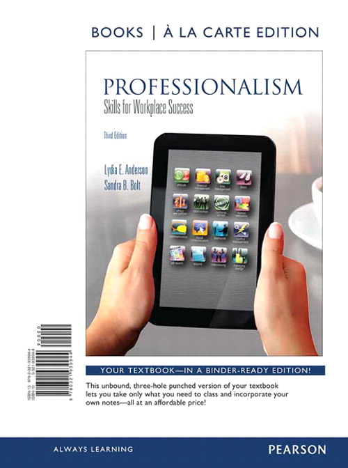 Professionalism: Skills for Workplace Success, Student Value Edition, 3rd Edition