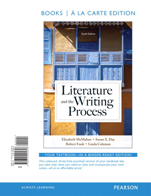 Literature and the Writing Process, Books a la Carte Edition, 10th Edition