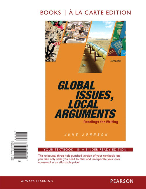 Global Issues, Local Arguments, Books a la Carte Edition, 3rd Edition