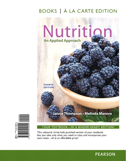 Nutrition: An Applied Approach, Books a la Carte Edition, 4th Edition