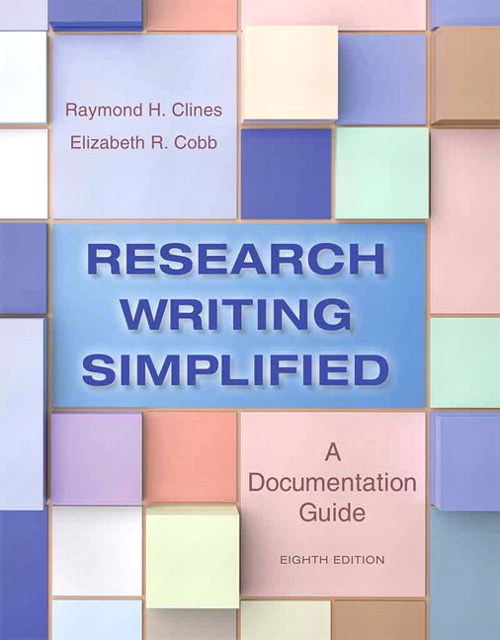 Research Writing Simplified: A Documentation Guide, CourseSmart eTextbook, 8th Edition