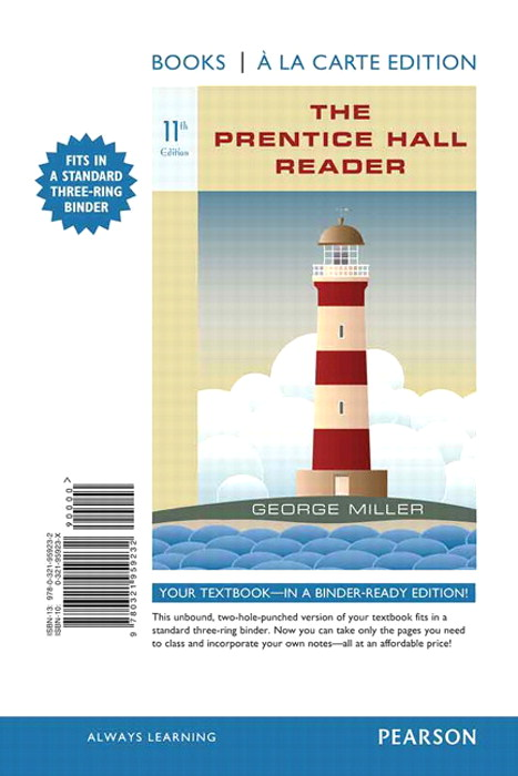 The Prentice Hall Reader, Books a la Carte Edition, 11th Edition