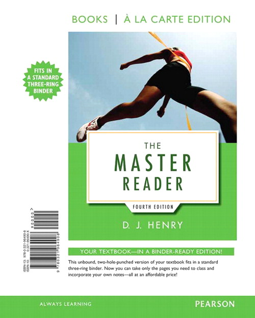 The Master Reader, Books a la Carte Edition, 4th Edition