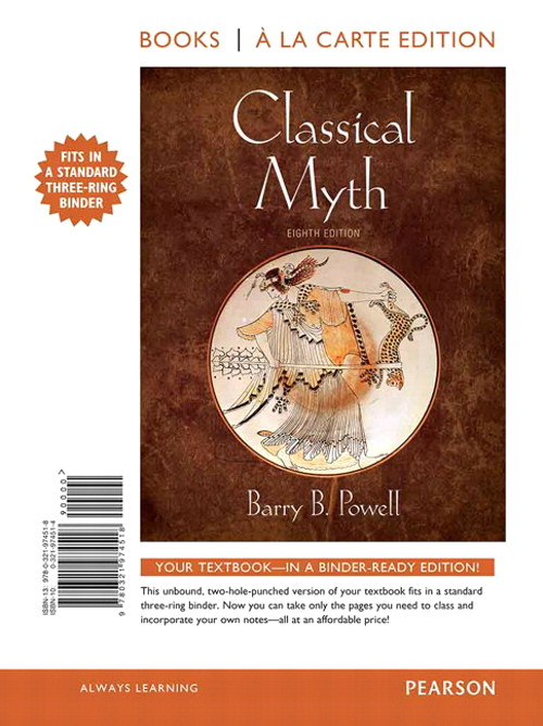 Classical Myth, Books a la Carte Edition, 8th Edition