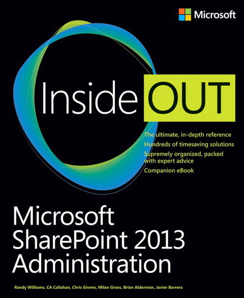 Microsoft SharePoint 2013 Administration Inside Out, CourseSmart eTextbook